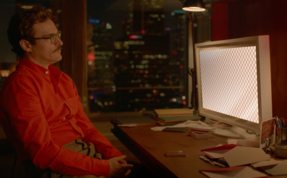 "Her - Theodore installing Samantha on a futuristic ""Apple iMac"""