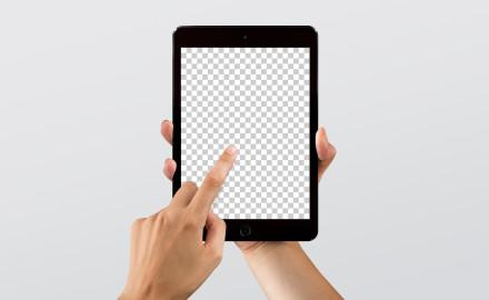 Hi-Res iPad mini mockup for Sketch & Photoshop