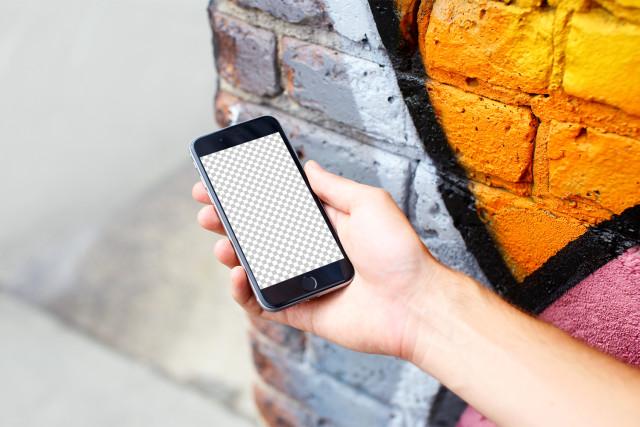 Streetart iPhone 7 free mockup