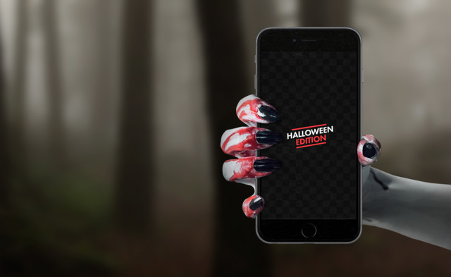 Free Halloween iPhone 6s mockup