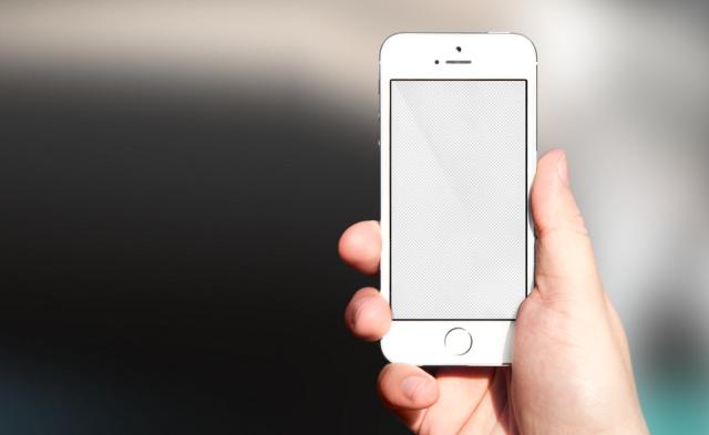 Free Studio mockup of iPhone SE