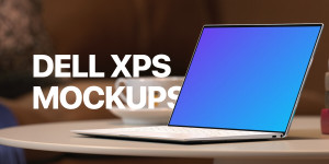 14 Dell XPS Mockups to showcase your website designs