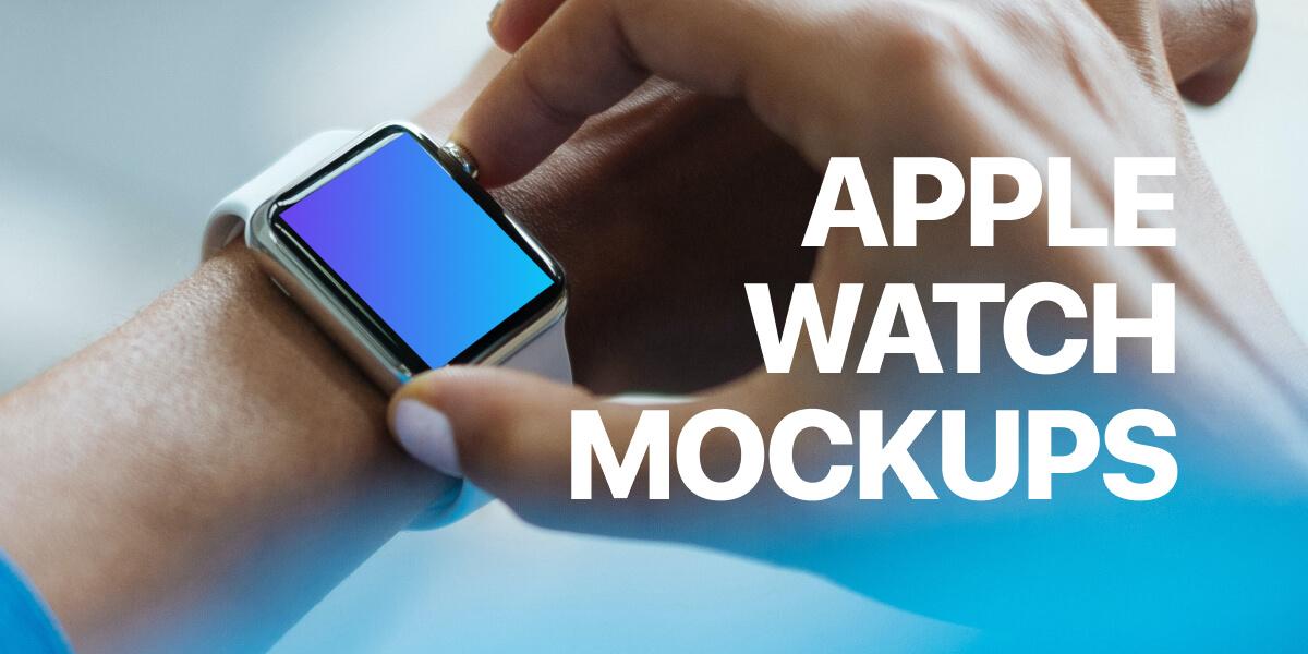 30+ Free Apple Watch Mockups