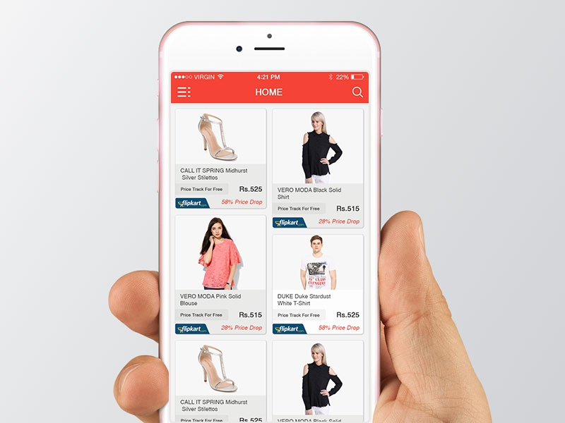 Product Screen of ECommerce App
