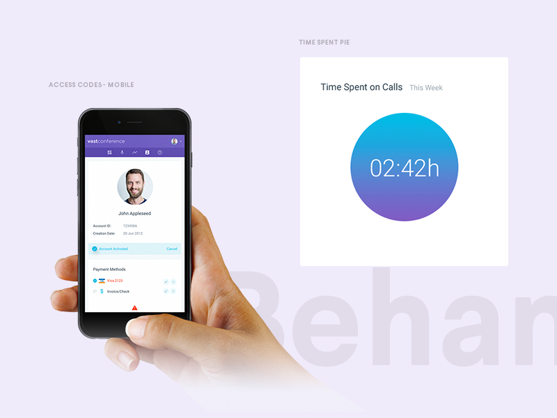 Conference Calling -  Behance Case Study