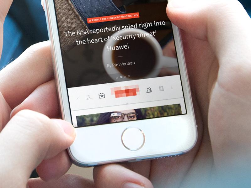 iOS news app overview
