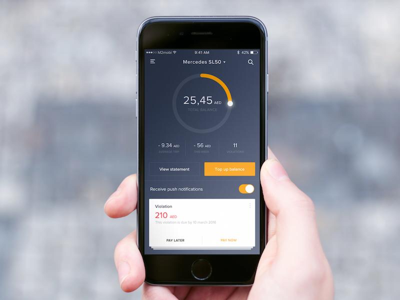 Balance dashboard app