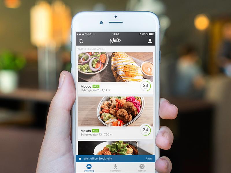Restaurant listing screen on iOS