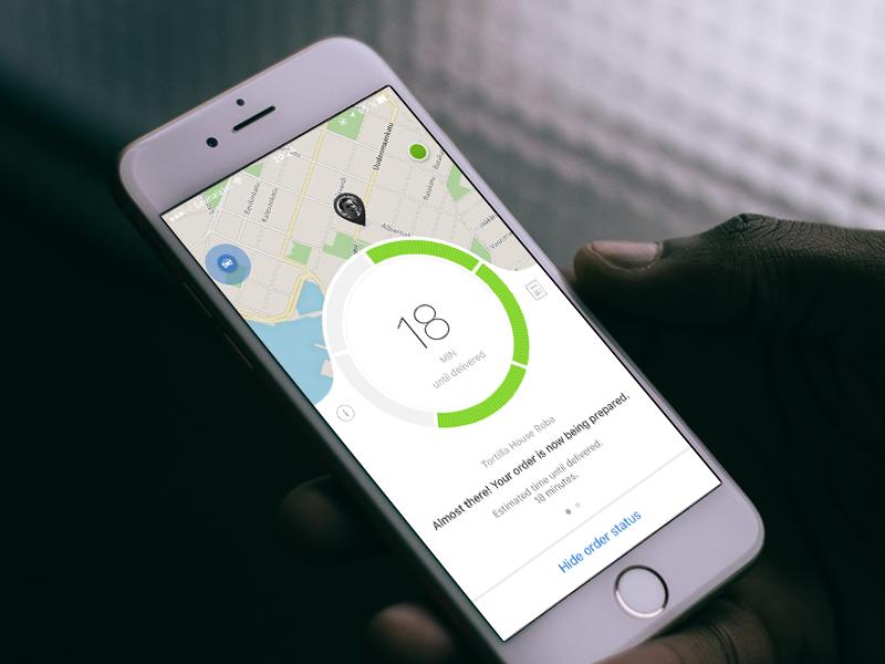 Order status screen on iOS