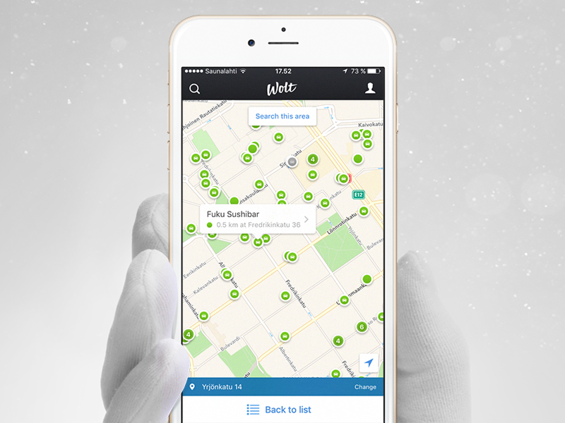 Map screen on iOS
