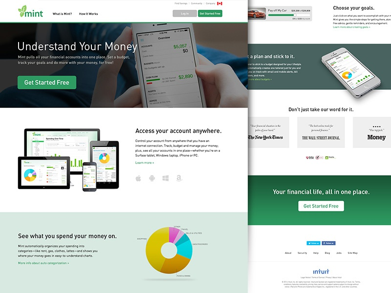 Mint.com Redesign
