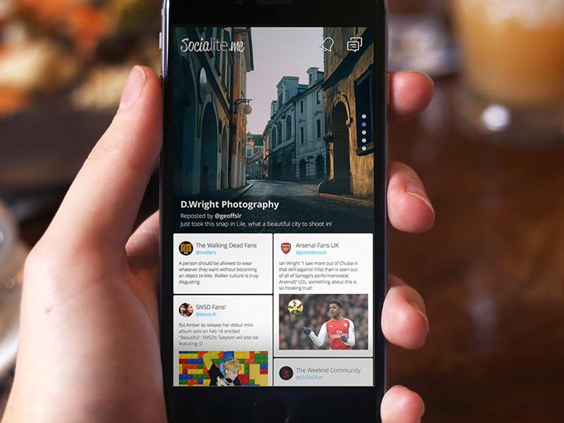 Socialite.me iOS App