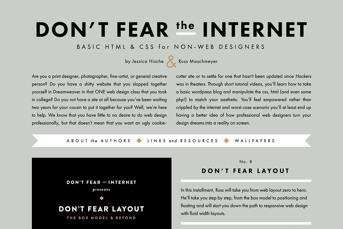 Don't Fear the Internet