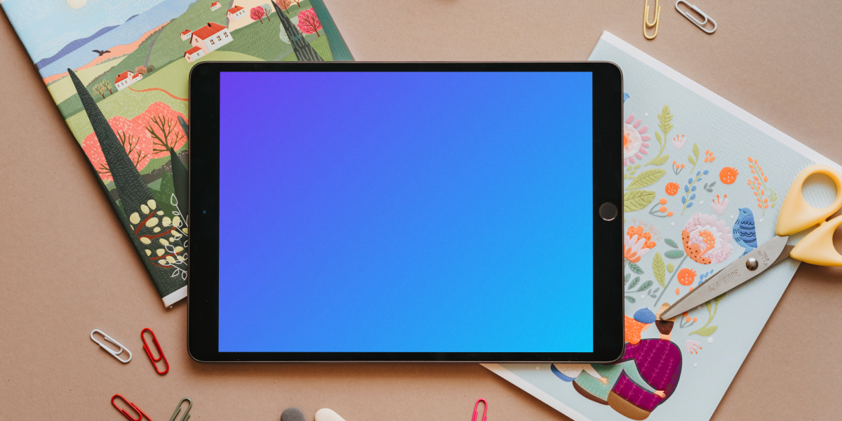 Engage kids this summer with these school tablet mockups