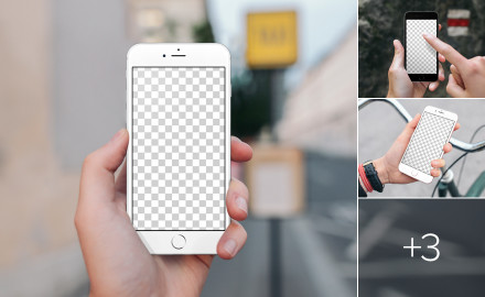 Photorealistic iPhone mockups