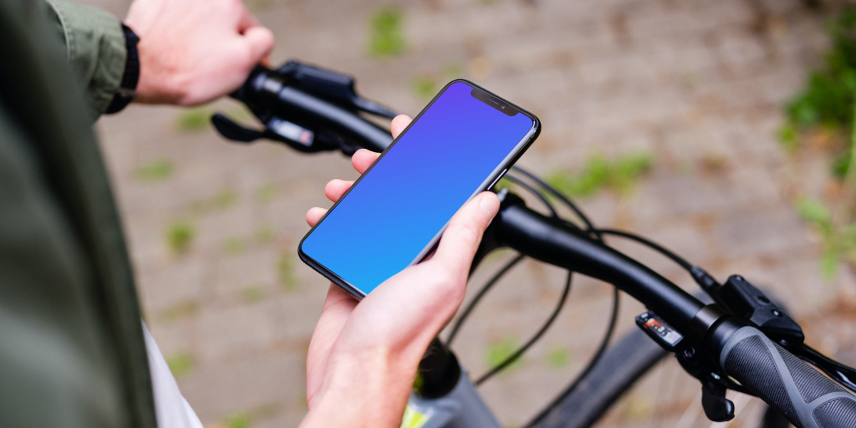 Bike mockups with iPhone 11 and Samsung S20